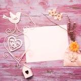 Романтичная карточка с пустым космосом Стоковое Изображение