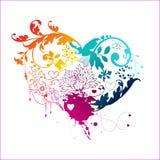 Романтичная карточка Стоковые Изображения