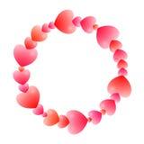 Романтичная круглая рамка Стоковые Фото