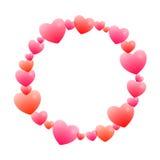 Романтичная круглая рамка Стоковые Изображения RF