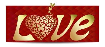 Романтичная предпосылка на день валентинок Стоковая Фотография RF
