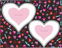 Романтичная предпосылка с сердцами для фото Стоковая Фотография
