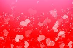 Романтичная предпосылка валентинок пинка влюбленности Стоковое Изображение RF