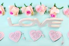Романтичная предпосылка влюбленности в пастельных цветах Стоковая Фотография