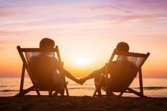 Романтичная предпосылка влюбленности, пара медового месяца Стоковая Фотография
