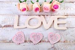 Романтичная предпосылка влюбленности Стоковая Фотография