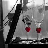Романтичная предпосылка с вином Стоковое фото RF