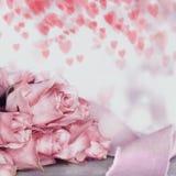 Романтичная предпосылка для приветствий влюбленности Стоковое Изображение RF