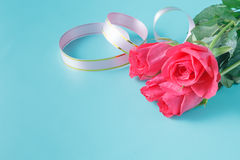 Романтичная предпосылка для сообщения влюбленности Стоковое Изображение RF