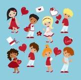 Романтичная принципиальная схема любить девушки мальчика Стоковые Фотографии RF