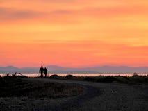 Романтичная прогулка Стоковые Фото