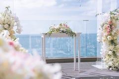 Романтичная свадебная церемония стоковые изображения rf