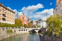 Романтичная средневековая Любляна, Словения, Европа Стоковые Изображения RF