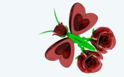 Романтичная стеклянная бабочка Стоковое Изображение