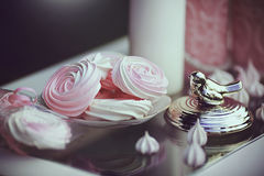 Романтичная сладостная таблица Стоковая Фотография RF