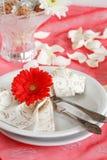 романтичная таблица установки Стоковые Фото
