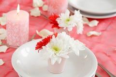 романтичная таблица установки Стоковые Изображения