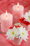 романтичная таблица установки Стоковое Изображение RF