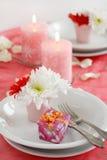 романтичная таблица установки Стоковое Фото