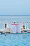 романтичная таблица Стоковые Фото