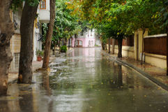 романтичная улица Стоковое Изображение