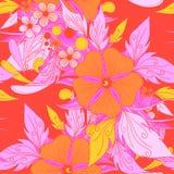 Романтичная флористическая декоративная безшовная картина вектора текстура для иллюстрация вектора