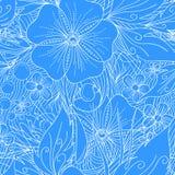 Романтичная флористическая декоративная безшовная картина вектора текстура для иллюстрация штока