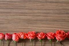 Романтичная флористическая предпосылка рамки Предпосылка дня Валентайн Стоковая Фотография