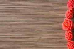 Романтичная флористическая предпосылка рамки Предпосылка дня Валентайн Стоковое Изображение RF