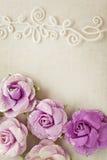 Романтичная флористическая предпосылка рамки Стоковое фото RF