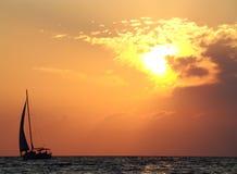 романтичная яхта Стоковое Изображение