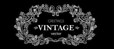Романтичное винтажное оформление Рамка разветвленный Стоковые Фото
