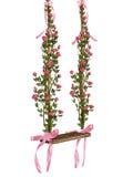 Романтичное качание с розами Стоковые Фотографии RF