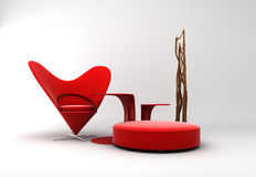 романтичное мебели нутряное Стоковые Фотографии RF