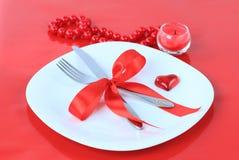 романтичное обеда предпосылки красное Стоковое Изображение