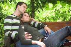 романтичное пар симпатичное Стоковые Изображения
