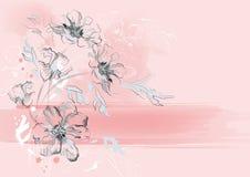 романтичное предпосылки флористическое Стоковые Фото