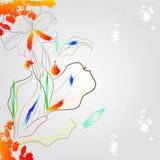 романтичное предпосылки цветастое Стоковое Фото