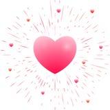 романтичное сердца розовое Стоковые Изображения RF
