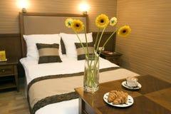 романтичное спальни нутряное Стоковая Фотография