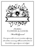 Романтичное флористическое приглашение Стоковые Фото