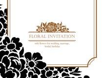 Романтичное флористическое приглашение Стоковое Изображение RF