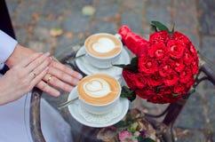 Романтичные пары встречи Стоковая Фотография RF