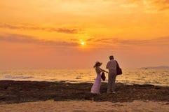 Романтичные пары Стоковое Изображение RF