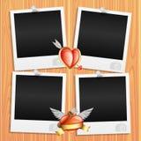 Романтичные рамки фото Стоковые Изображения RF