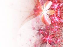 Романтичные розовые цветки фрактали Стоковое фото RF