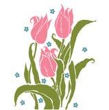 Романтичные тюльпаны Стоковое Фото