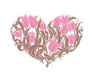Романтичные тюльпаны Стоковые Фотографии RF
