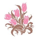 Романтичные тюльпаны Стоковые Фото