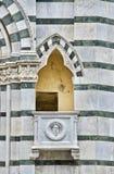 Романтичный балкон окна в Пистойя Тоскане Италии Стоковые Фото